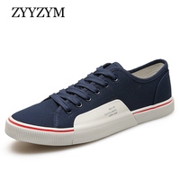 Men Canvas Shoes Lace Up Style Spring And Autumn Flat With Fashion Trend Casual Student Youth