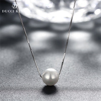 2017 New Fashion Natural Shell Pearl Jewelry Necklace For Women 925 Sterling Silver Chain Jewelry Pearl