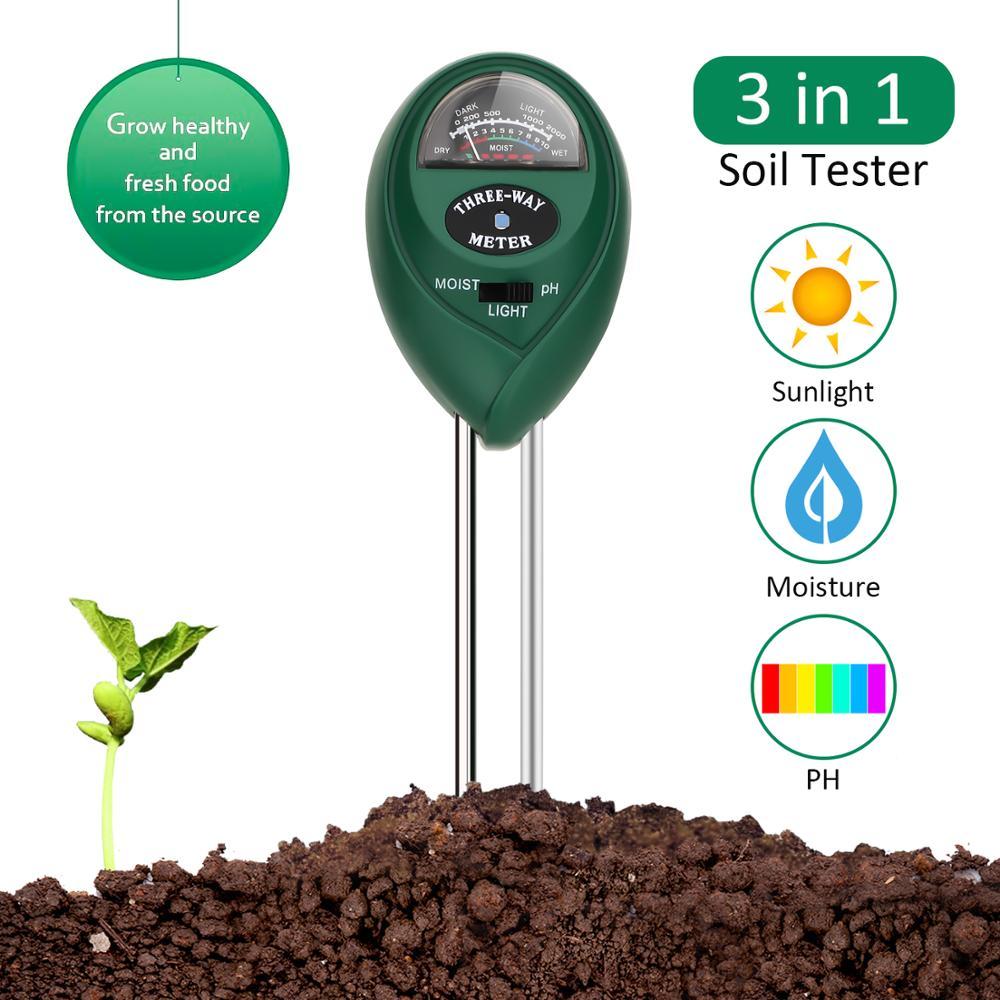 Soil PH Tester 3-in-1 Moisture Sensor Meter Sunlight PH Soil Test Kits Soil PH Tester For Garden Romote Plants Healthy Growth