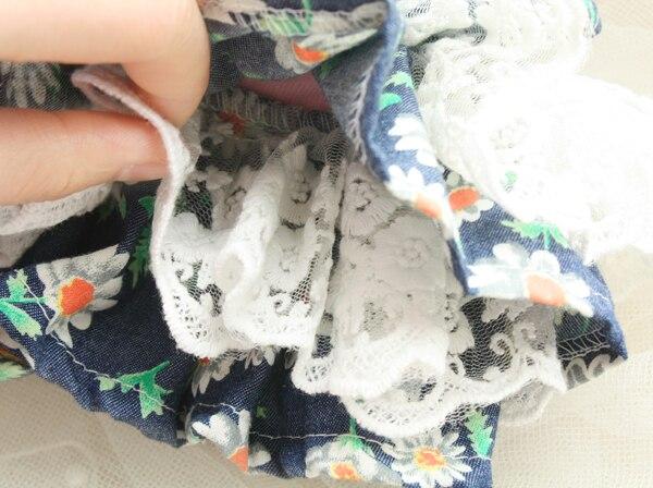 Transporti falas Daisy pak lule 3D lule dantella pantallona të gjera - Produkte për kafshet shtëpiake - Foto 5