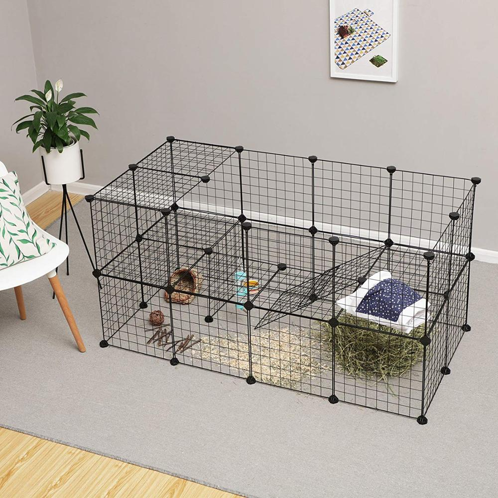 36pcs/10pcs/8pcs Foldable Pet Playpen Fence Pet Kennel House Pen Fence For Small Animals Bunnies Rabbits Puppy Guinea Pigs