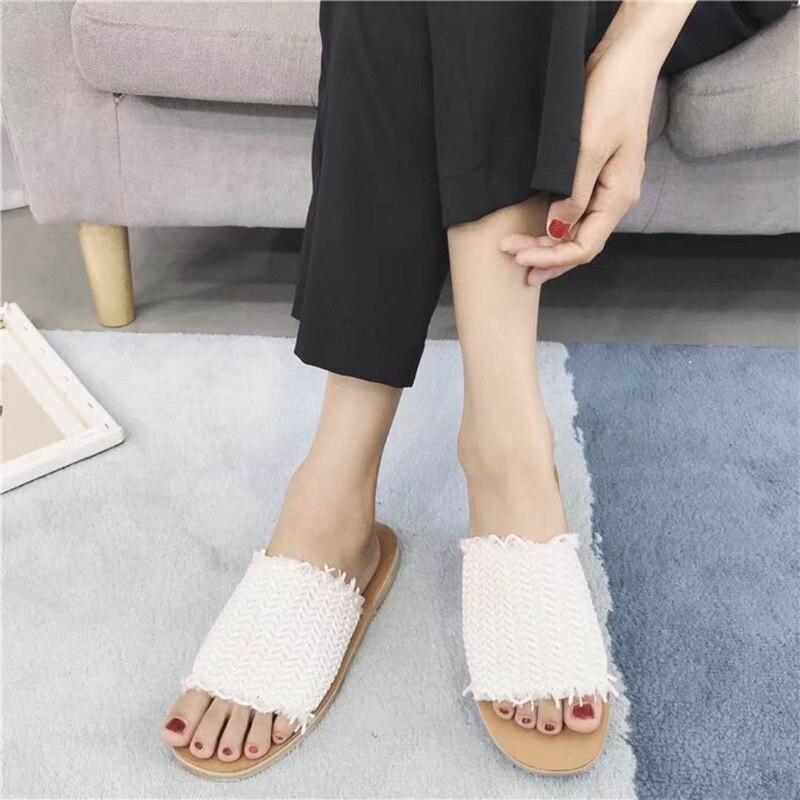 Pantoufles Femmes Automne Printemps Chaussures Plat Mode Causal 2018 OHFz1TOq