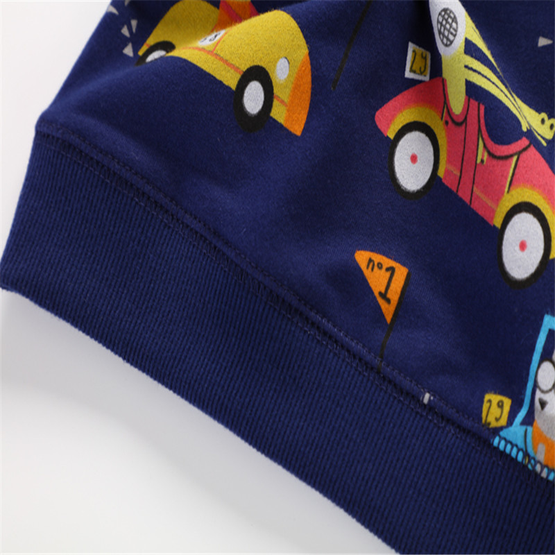 2018 new baby boys long sleeve spring autumn winter t shirt kids cute fashion cartoon t shirt with printed some cars top t shirt