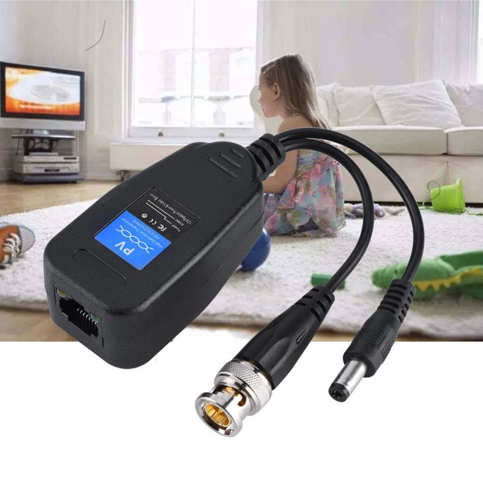 1 paire Passif CCTV Coaxial BNC Power Video Balun Émetteur-Récepteur à RJ45 Connecteur