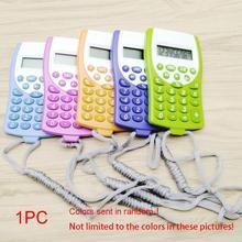 Офисный мини-калькулятор для школьников, многофункциональные часы-калькулятор с ремешком