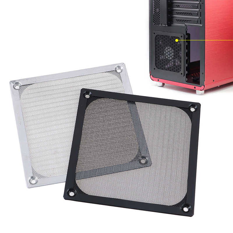 12 Cm PC Cooler Fan Filter Dustproof Case Komputer Mesh Filter Debu Bersih Guard untuk Komputer PC Case Cooling fan 120X120 Mm