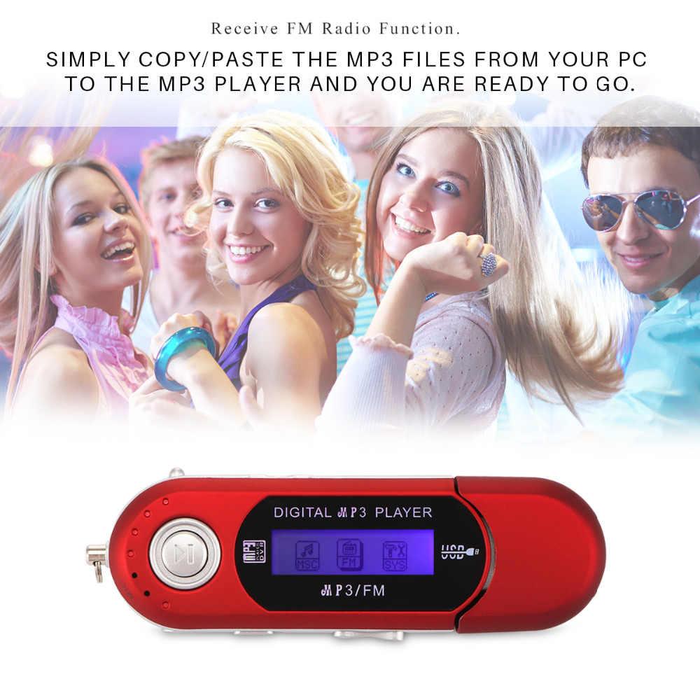 Powstro USB ดิจิตอล MP3 ผู้เล่น LED หน้าจอ FM วิทยุสนับสนุน TF Card สูงสุดความจุ 32 GB ในตัว 3.5 มม. แจ็คเอาต์พุตเสียง
