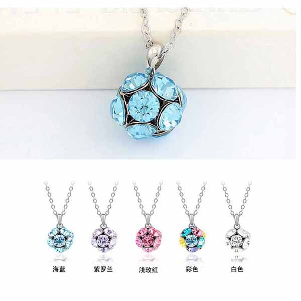B01 Latest Design Luxury jewelry crystal ball necklace Crystal Necklace leave neckalce long 60cm necklaces & pendants