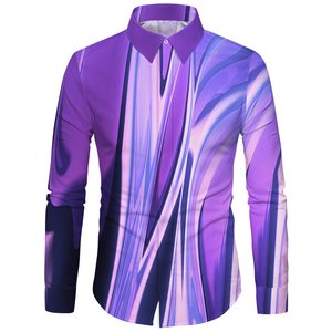 Image 1 - Cloudstyle 3d floral impresso homem camisa casual xadrez camisas hombre vestido camisas de casamento homme camisa manga longa magro ajuste camisas