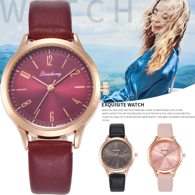 2018 Fashion Casual Luxury Brand Leather Creative Relogio Feminino Woman Wristwa