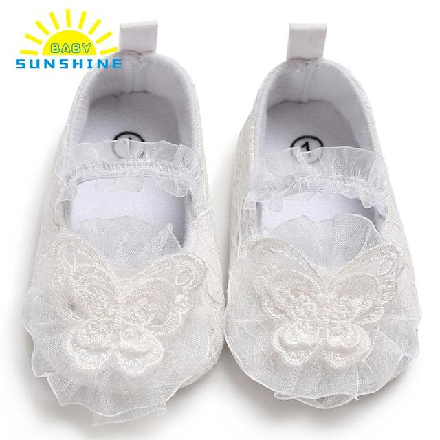 b9990009125ef US $2.84 10% OFF|Newborn Baby Girls Shoes White lace lightweight Soft Sole  Non Slip Prewalker Toddler Lace Princess Shoes 11cm/12cm/13cm-in First ...