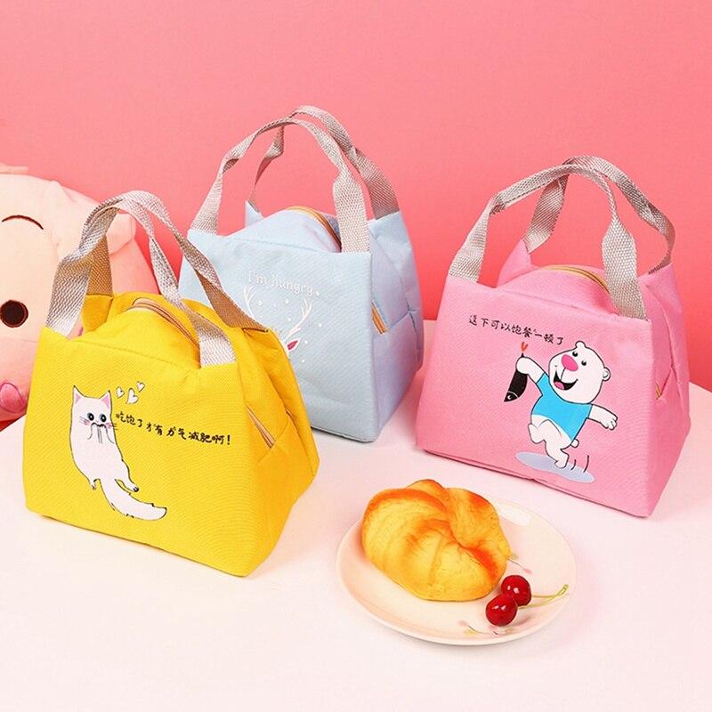 Cartoon Cute Lunch Bag For Women Girl Kids Children