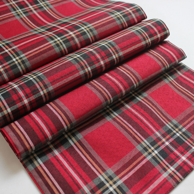 Free Shipping Promotion 100% Polyester Plaid Scottish Theme Table Runner 4b6bf544d90d