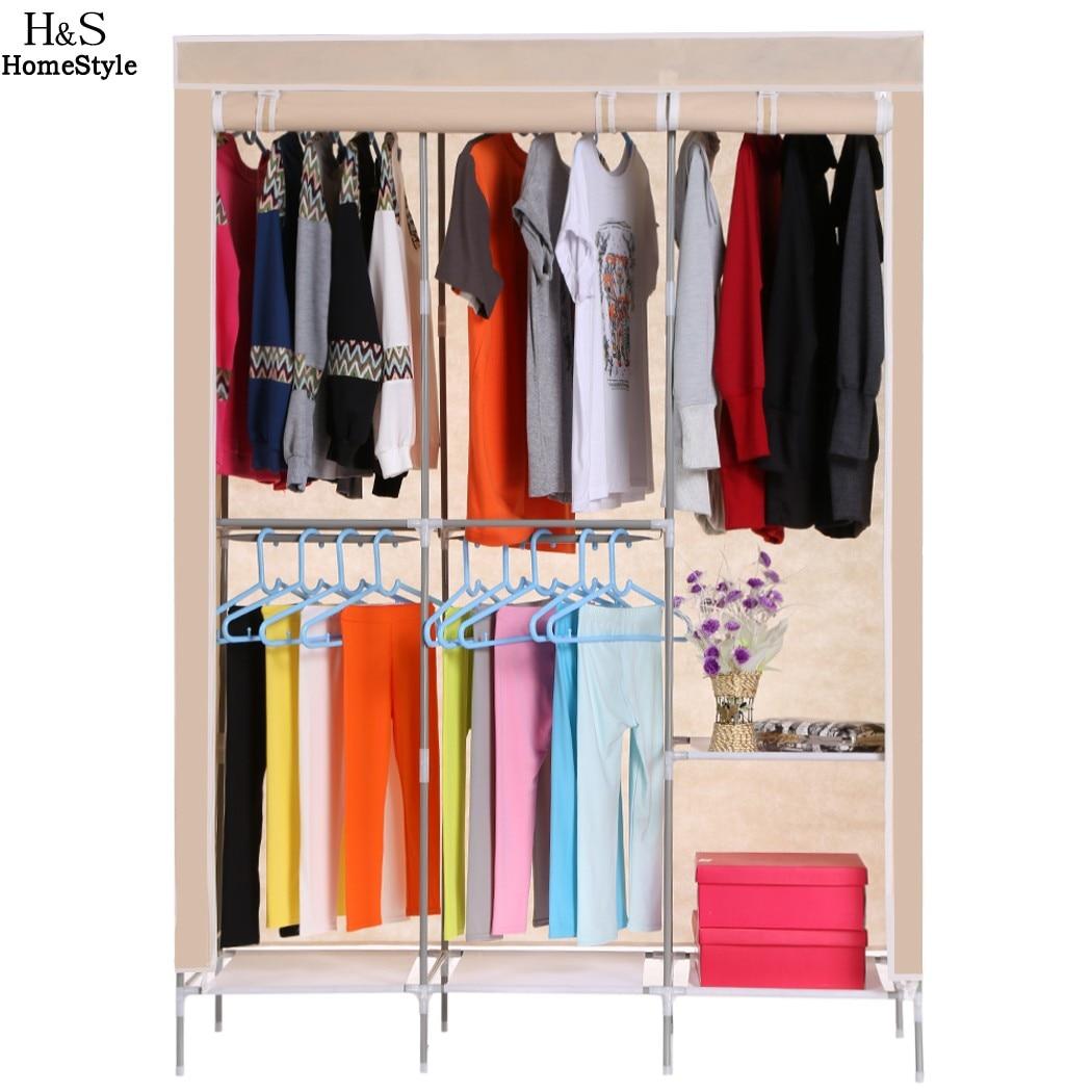 Homdox Non Woven Wardrobe Folding Practical Cloth Cabinet Portable Clothes Storage Rack Closet Clothes Organizer Wardrobe B20A