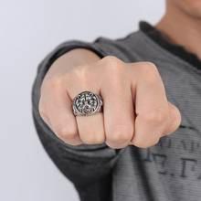 Bagues Vintage en acier inoxydable pour hommes, anneaux de tête de Lion en couleur métal Rock Punk Style gothique Biker, bijoux pour hommes Aneis Anillos