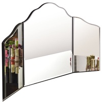 Home Bedroom 27 x 18 Women Room Decor Mirror Large Trifold Vanity Makeup Mirror Decoration HW56410