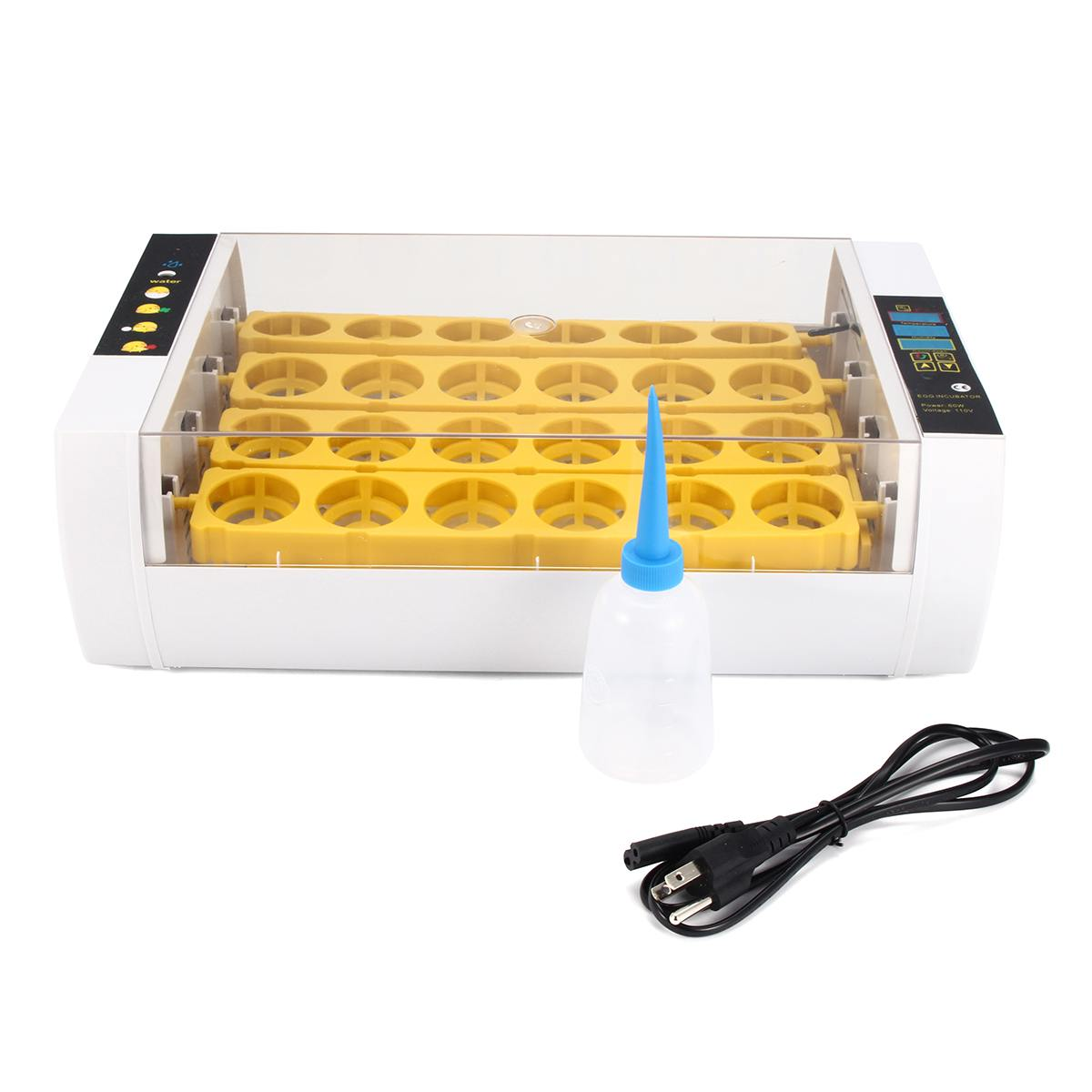 Fully Automatic Hatcher Machine 24 Hole Incubator Chicken Duck Digital Display Smart Sensitive Poultry Hatcher Tray Brooder 80W