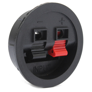 Image 4 - LEORY 2 Pcs Speaker Terminal Board 2 Way Binding Post Terminal Cup Round Spring Clip