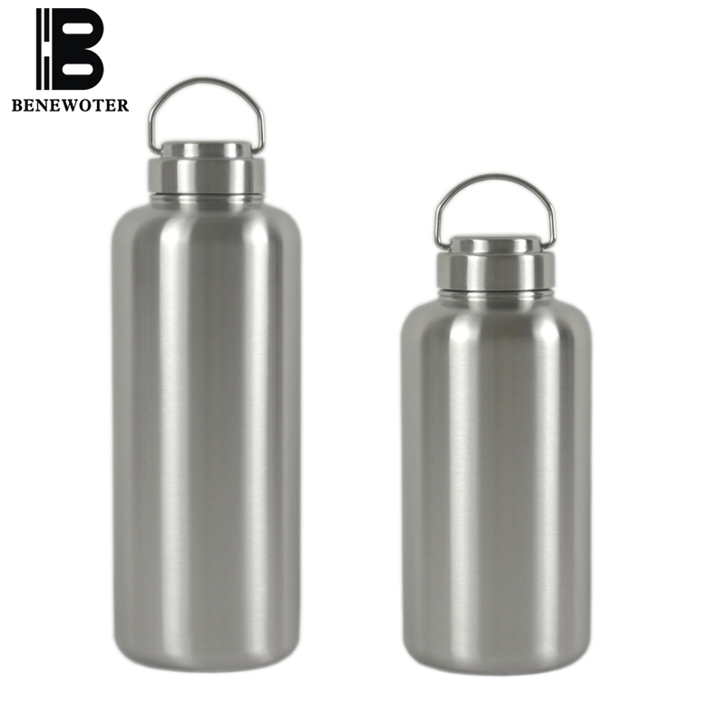 2500ml Portable Sport Outdoor Camping Large Capacity Thicken 304 Stainless Steel Water Bottle Insulated Kettle Drinkware