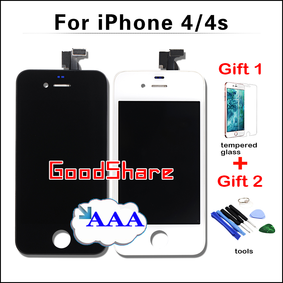 Подробнее о 2 Free Gifts+AAA Quality LCD Screen For iPhone 4/4s Display Digitizer Assembly Replacement Pantalla Black/White Test Work Well aaa quality lcd for iphone 4 4s screen display digitizer assembly replacement pantalla black white free gift tools free shipping