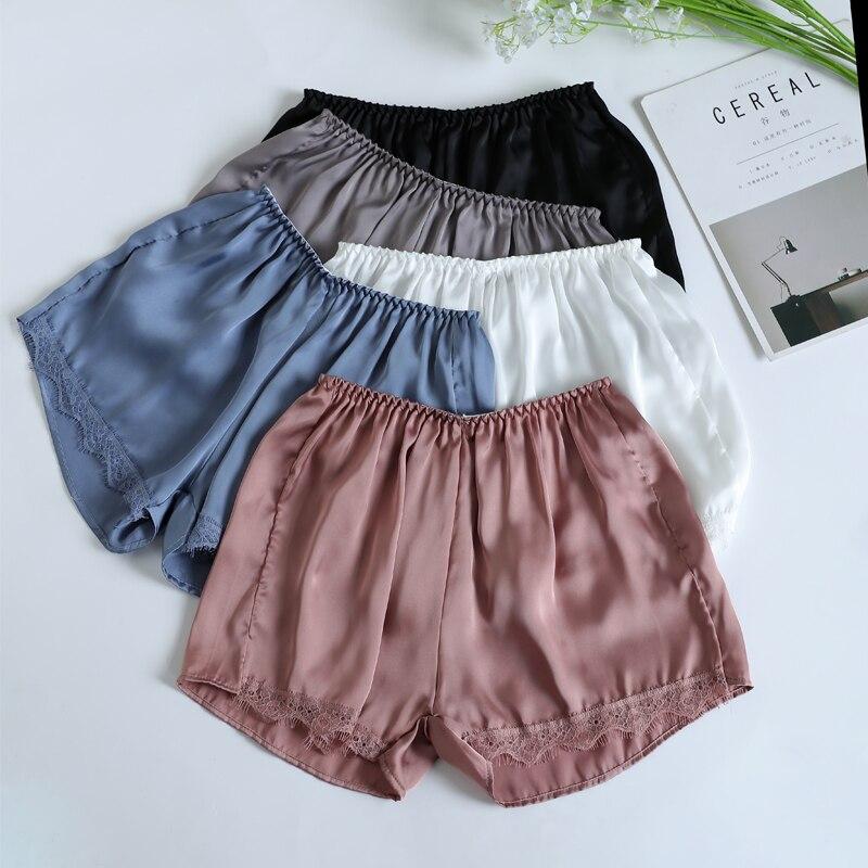 Casual Sleep Bottoms For Women Plus Size Pajama Bottoms Spring Summer Sleep Shorts Pijama Pants Nightwear White Black Pink