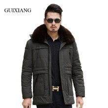 New arrival style men boutique parkas fashion solid thick removable large hair collar men loose clothes jacket large size L-7XL