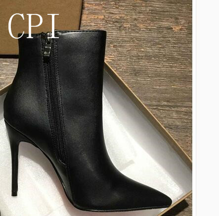 Brand Women spring Winter Boots Sexy High Heels Boots Buckle Thin Heel Short Boots  Autumn Party Shoes with box 34/41 brand red sexy women party wedding nightclub shoes woman thin high heel pumps spring summer women high heels 2017 with box