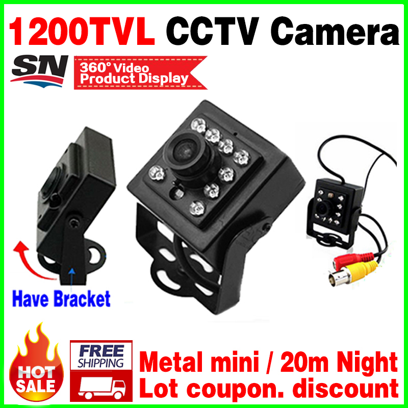 Small Style!Mini Night Vision HD Camera CMOS 1200TVL 10led HD CCTV monitoring Security Surveillance Metal micro vidicon bracket give 2a power hd 1 3sony effio e ccd 700vl security surveillance dome cctv camera osd meun blue 24led hd night vision vidicon