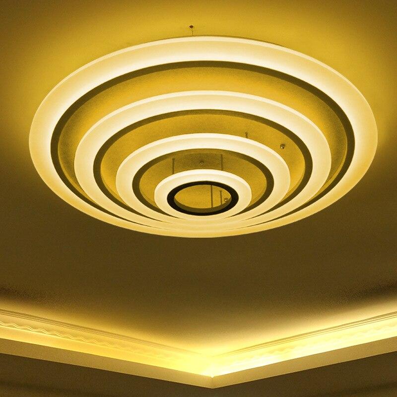Luxury round acrylic ceiling light aluminum fashion - Lamparas de techo dormitorio ...
