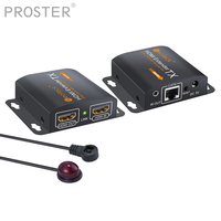Proster HDMI Splitter extend 60m RJ45 Transmitter TX/RX with IR Converter Support CAT6 HDMI Extender With 2 Ports HDMI Splitter