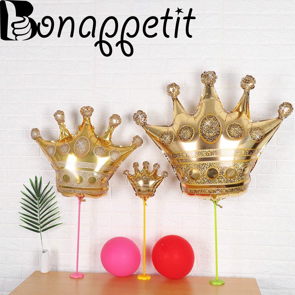 Party Favor Wedding Prince Princess Large Balloons Aluminium Foil  Gold Crown
