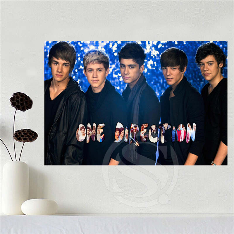Custom canvas one direction poster home decoration cloth fabric wall poster print Silk Fabric Print Free Shipping SQ0619-784