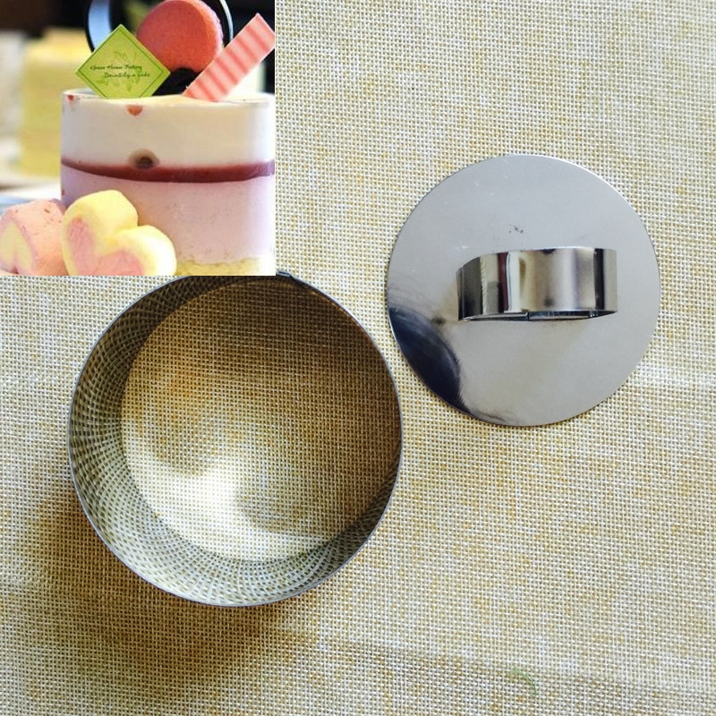 High Quality 1pc Food Grade Stainless Steel <font><b>Round</b></font> Mousse Ring Fondant Cake <font><b>Mold</b></font> Cake Decoration Baking <font><b>Cheese</b></font> Pudding <font><b>Molds</b></font> image