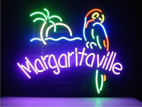 Jimmy Buffett Margaritaville Glass Neon Light Sign Beer Bar