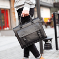 Tidog New business man portable male leather shoulder aslant bag briefcase