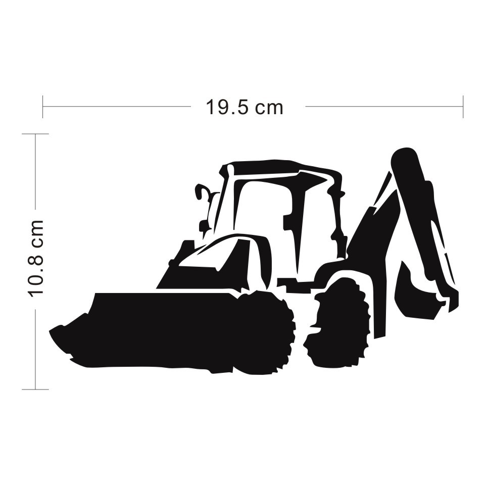 Cunymagos Jcb Digger Fashion Decor Stickers Decals Vinyl Car Accessories Car Styling Motorcycle Wall Sticker Decal 19.5cm10 (3)