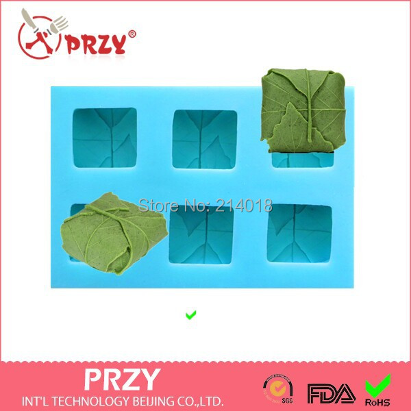 Free shipping DIY Sell hot 3D 6hole leaves shaped silicone mold fondant Cake decoration mold Handmade