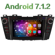 Quad Core 2GB RAM 16GB ROM 8″ Android 7.1.2 Car Multimedia Stereo radio player for Mazda 5 Premacy 2009-2012 Support Bose SWC