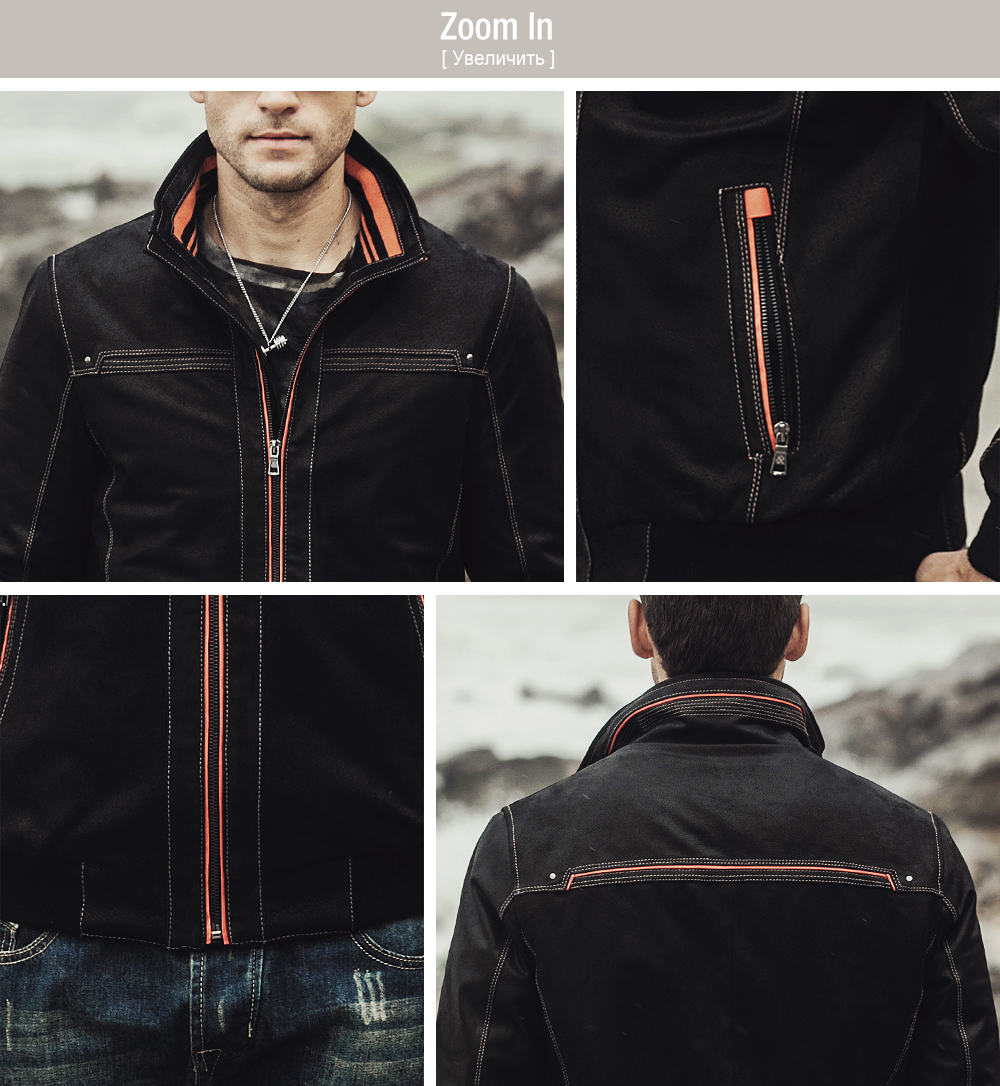 NEW Men's Real leather coat Padding cotton warm Autumn Winter male Genuine Leather Jacket