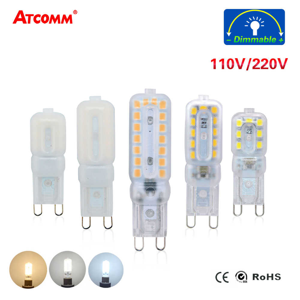 Dimmable G9 LED Diode Chandelier Lamp 5W 7W 9W 110V 220V 14 22 32 LEDs SMD 2835 G9 LED Spotlight Bulb