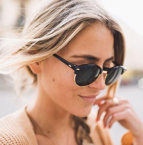 aeab1588d19 TRIUMPH VISÃO Senhoras Preto Polarizada Óculos De Sol Das Mulheres Retro  Rodada Oculos Shades Feminino 2017