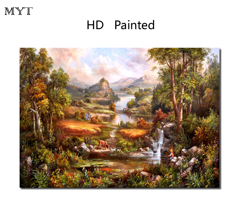 Painting & Calligraphy Landscape Painting Hd Painting Printed On Canvas Art Wall Picture For Bed Room Sitting Room Home Decor No Framed Or Diy Framed Unequal In Performance Home Decor