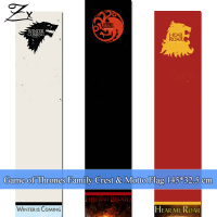 Large Game Of Thrones Logos Cosplay Flags for song of ice and fire Stark Wolf Targaryen Dragon Winter is coming Medieval banners