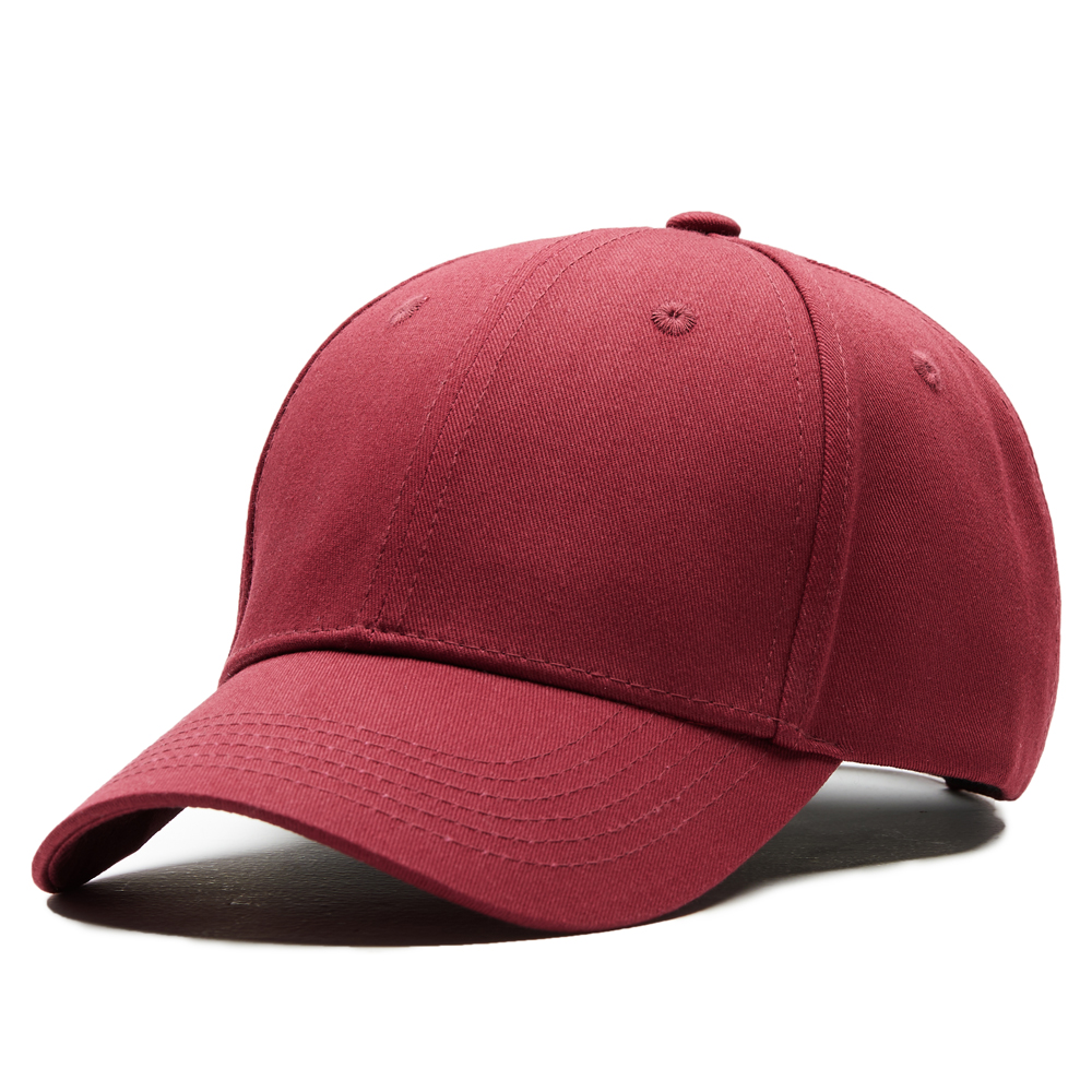 Baseball Cap Dad Hat Baseball Hat Red Solid Outdoor Sports Male Female Bones Cotton Ventilate Snapback Caps for Men Women
