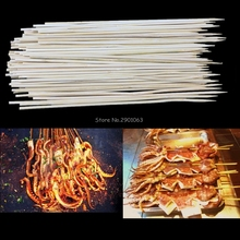 1 PACK Bamboo Skewers Grill Shish Kabob Wood Sticks Barbecue BBQ Tools H06