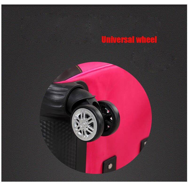 Haute qualité, coloré minimaliste 16/20/24/28 pouces taille PC roulant bagages Spinner marque valise de voyage - 5