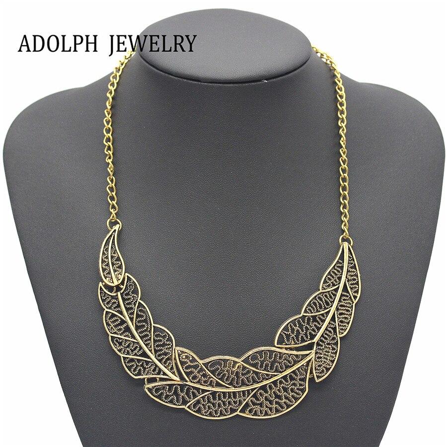 Adolph Jewelry Wholesale Vintage Leaf Pednats Statement