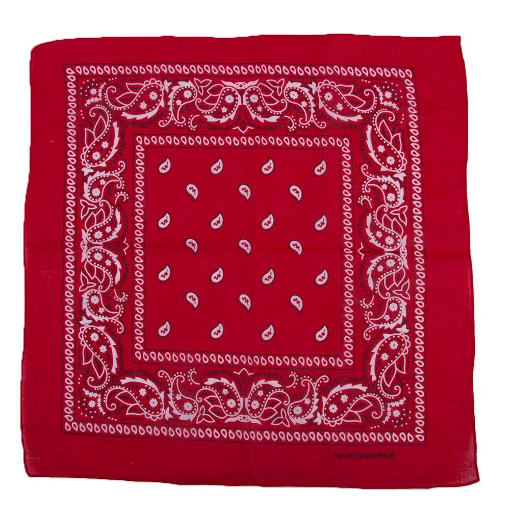 Handkerchief Wraps Wristband Bandanas Neck-Scarf Paisley Print Fashion High-Quality Cotton