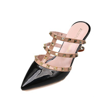 830c3231dba3 Free shipping 2018 Sandals Ladies sandals free freight 2018 spring and fall  fashion rivet tip hollow