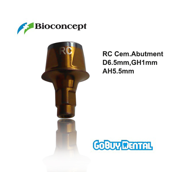 все цены на Straumann Compatible Bone Level RC Cementable abutment, D 6.5mm, Gingiva height 1mm, Abutment Height 5.5mm онлайн